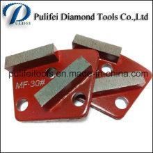 Ovale Arrow Block Shape Rénovation de plancher en béton Segment de meulage de diamant
