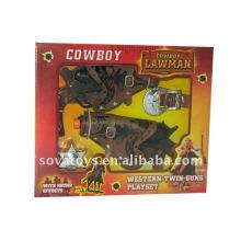 Ensemble d'armes à jouets pour cow-boy