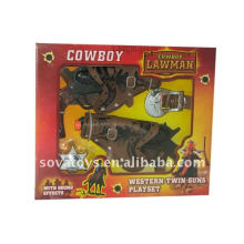 kids cowboy toy gun set