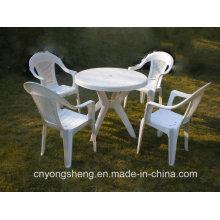 Injeção plástica branca mesa com molde da cadeira (YS1601)