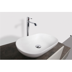 Lavabo sospeso realizzato in solid surface Solid Stone