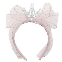 Yarn Crown Headband Bow Knot Luxury Hair Accessories Korean Handmade Princess Hairband Gift Party Sweet for Women Girls Kids