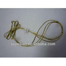 cordón elástico metálico dorado / plateado con lazo prearteado, banda elástica