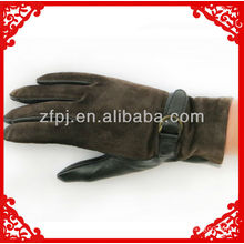 New style men's deerskin palm suede back gloves