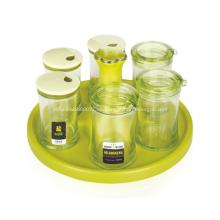 E-freundlicher 6-teiliger Gewürzglas-Öltopf