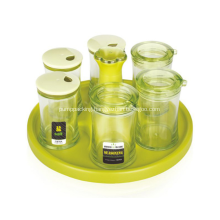 E-friendly 6Pcs Seasoning Jar Oil Pot