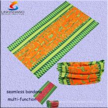 LINGSHANG 5263 Multifunktions-nahtlose Schlauchbandana Vintage Haarzusätze