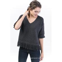 Frauen Pullover mit V-Ausschnitt