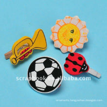 cute small wooden shaped clip for scrapbooking