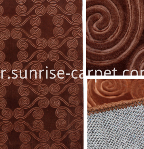 macro embossing carpet