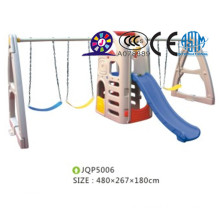 Infants plastic material indoor and outdoor slide and swing set