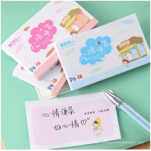 Mini Meo Pad impreso, Cute Mood Sticky Notes, 50 hojas