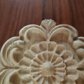 Round Furniture decoration carving flowers wood onlays