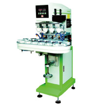 Pneumatischer 4-Farben-Pad-Drucker mit Förderband (SP-150 / 4A, Farbwanne)