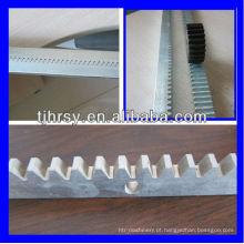 Racks de engrenagens de aço (zincado) com furos de montagem