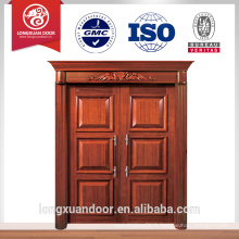 Design de luxe entrée portes doubles porte principale design matériau en bois porte double