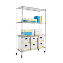 Iron Commercial Shelving Racks Used at Offices
