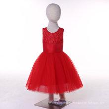 Satin Tüll Rot / Weiß / Elfenbein / Türkis Blumenmädchen Kleid