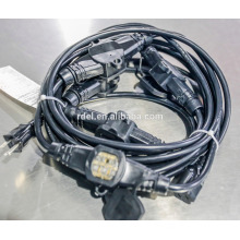 UL extension cords with 3/4/5 socket SJTW 14/3 SJTW 16/3 WITH COVERS BLACK