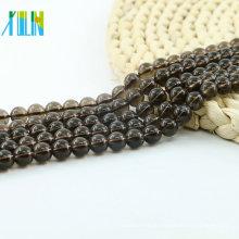 L-0259A Preço de fábrica Elegante Smoky Quartz Sintético (A) Natural Gemstone Beads Strand Bulk Suprimentos