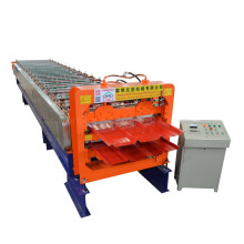 High-speed and robust fully automatic customized double-layer roof sheet forming machine