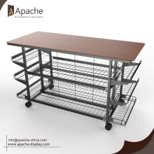 factory low price Used for Garment Display Racks,Garment Rack,Clothes Rack Manufacturer in China metal wire display shelf supply to Tonga Exporter