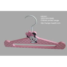 Children Printed Hanger with Cartoon, Pink, New Design