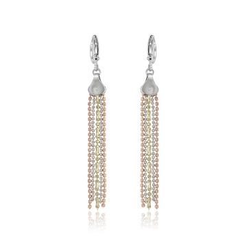 97258 xuping dernière conception multicolore mode dames personnalisé chaîne boucles d'oreilles pendantes
