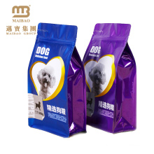 FDA Grade High Barrier Aluminum Foil Side Gusset Quad Sealed Customized Pet Dog Food Packing Bags