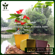 Biodegradable unbreakable waterproof plant fiber flowerpot
