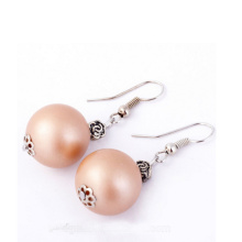 2017 Fashion Matte Light Pink Pearl Earrings