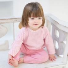 Cashmere tricotado raglan listrado com camisola infantil