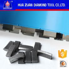 Segmentos de bits de taladro de diamante de techo agresivo
