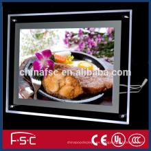 Caja de luz de cristal centro comercial publicidad led con buena calidad