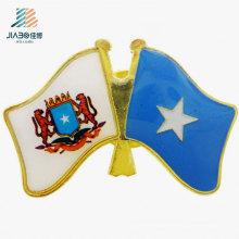 Personalizar promoción de logotipo artesanía Pin de bandera personalizada en metal con broche