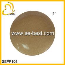 Placa da melamina 13INCH, prato da melamina, placa da melamina de ouro