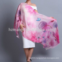 Wholesale digital printed shawl made of 100% wool