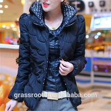 new design women leather goose down jacket ,down feather jacket