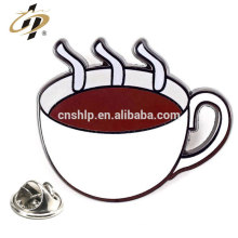 Wholesale custom die cut zinc alloy metal food lapel pins