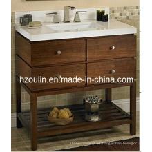 Tocador de baño de madera maciza antiguo (BA-1106)