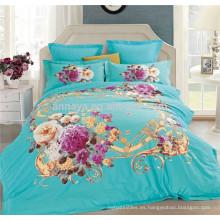 China Inicio Textil 3D Cubierta de la cama Set y Consolador Set Factory