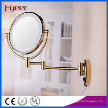 Fyeer Ultra Thin Foldable Golden LED Makeup Mirror (M1208GTF)