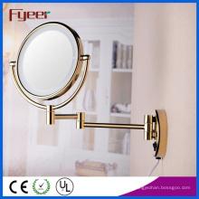 Fyeer ultra fino ouro dobrável LED espelho de maquiagem (M1208GTF)
