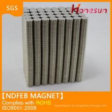 N35 D8 * 2mm sinterizadas pequenas de NdFeB
