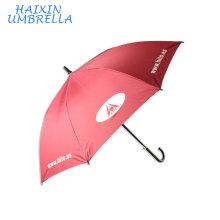 Cadeaux de porte de promotion marqués grande qualité forte coupe-vent cadre en fibre de carbone rouge logo personnalisé parapluie de publicité pour deux personnes