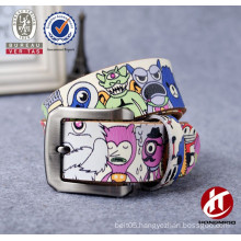 Hot selling funny cartoon pin buckle teenage leather belt