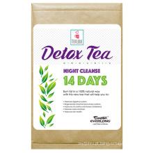 100% chá de desintoxicação erval orgânico chá magro chá de perda de peso (noite limpar chá 14 dias)