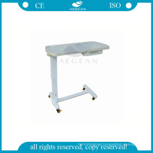 hot design AG-OBT009 popular ABS hospital bed table with drawer