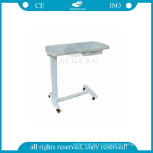 горячая конструкция АГ-OBT009 популярных АБС больничной койке стол с ящиком