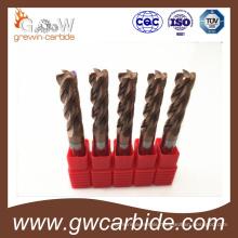 Carbide End Mill Cutter 4 Flutes HRC50